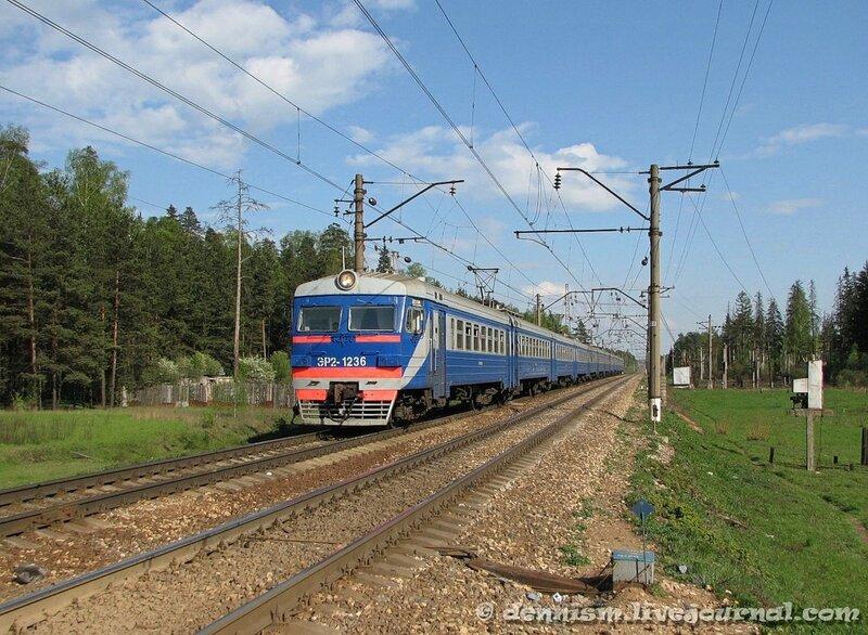 Электропоезд ЭР2-1236, перегон Монино - Чкаловская