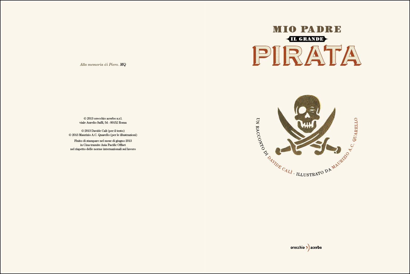 Maurizio Quarello, Mio padre il grande pirata
