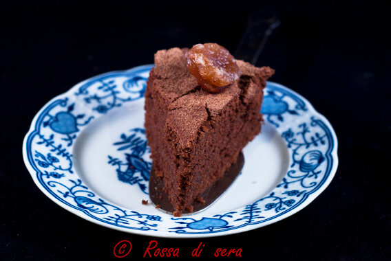 torta di grano saraceno con cioccolato e rhum