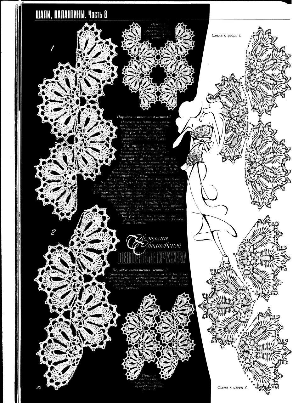 Кружева вязание схемы и фото