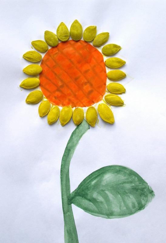 шаблон для открытки букет в вазе из тыквенных семечек лёшка антошка записавшись