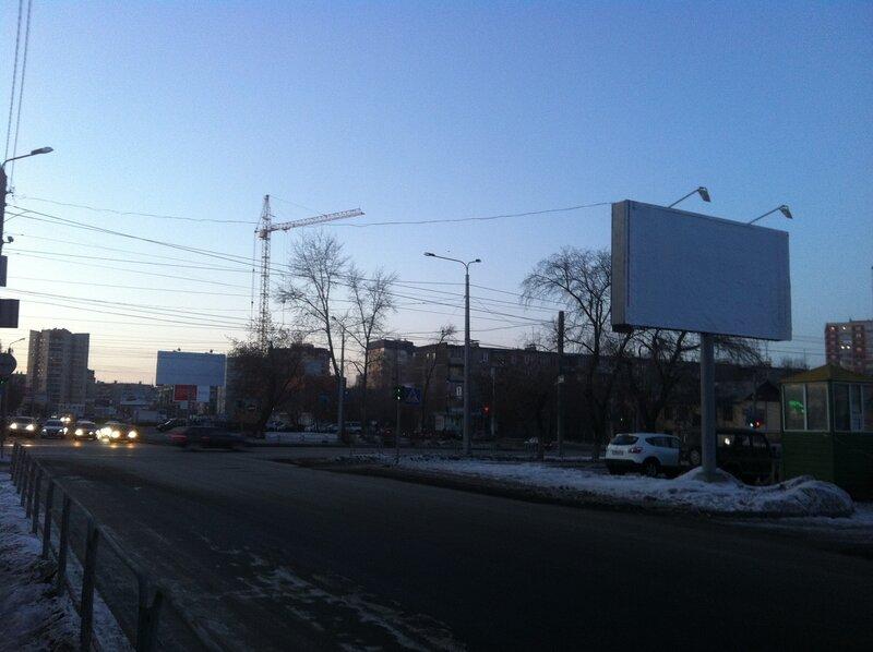 Пустые билборды на Курчатова