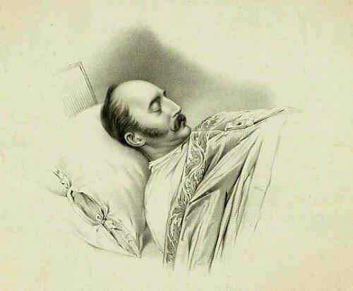 Владимир Иванович Гау. Император Николай I на смертном одре