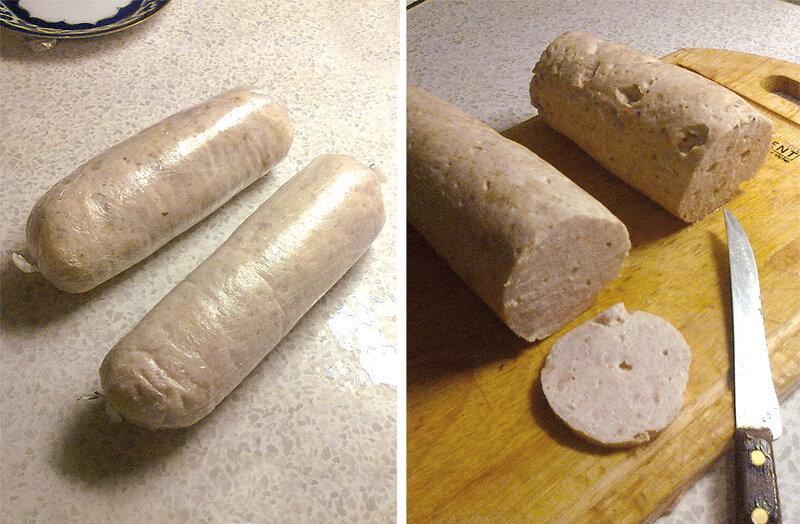 Как сделать вареную колбасу в домашних
