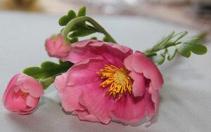 лепка из глины цветы