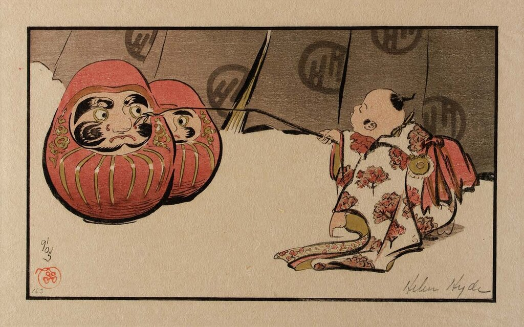 Teasing the Daruma 1905 Helen Hyde