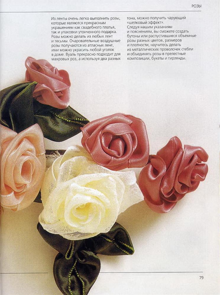 Роза из лент делаем розы цветы из лент.