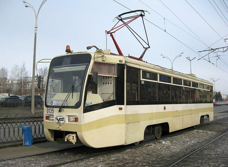 Набережные Челны, трамвайный вагон 0135.