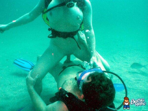 фото секс под водой