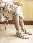 носки из квадратов. интересные носки из квадратов,если правильно...