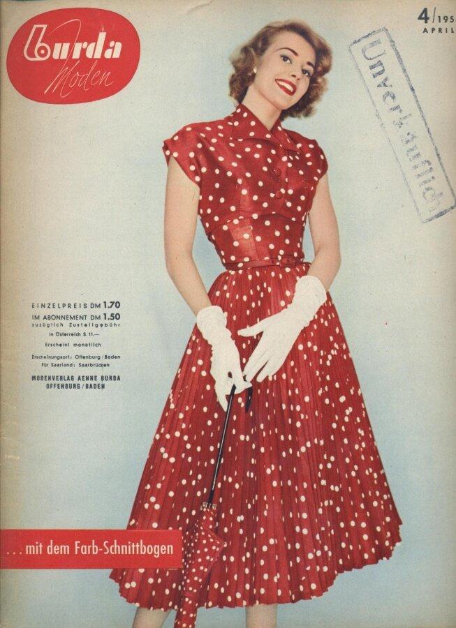Фасоны платьев из немецких журналов мод