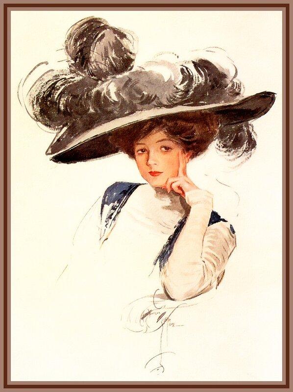живопись, портрет, красота, женщина                                                                                                                            Харрисон Фишер (Harrison Fisher)  1875 - 1934