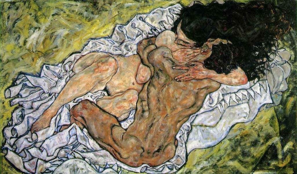 Объятие. (Любовники II)1917, Шиле Эгон (1890-1918)