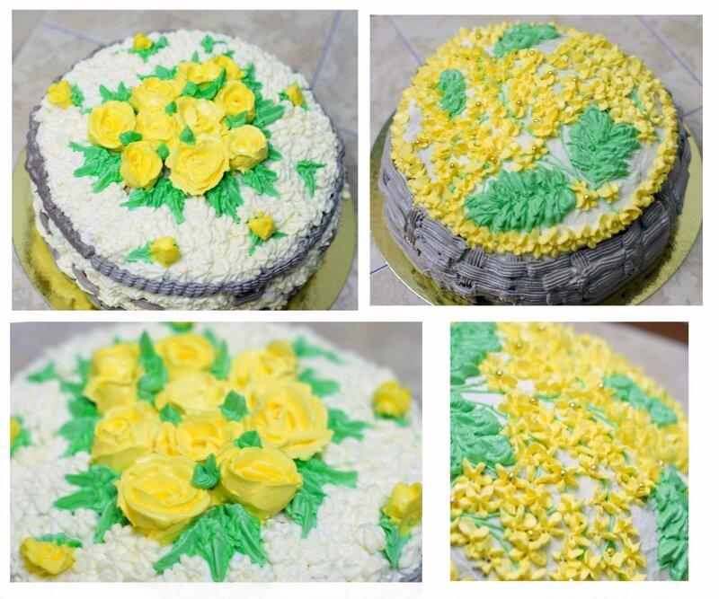 Как самому украсить торт фото