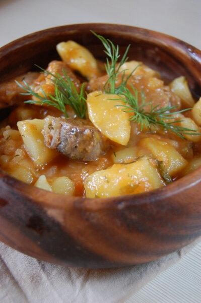 домашнее рагу со свининой