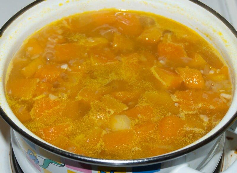Тыквенный суп с овощами