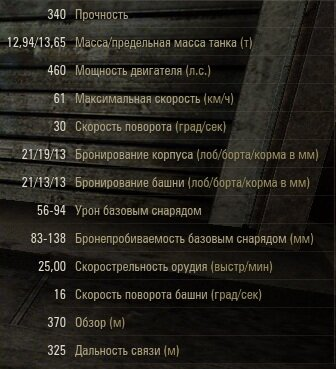 ТТХ ПТ-САУ Т49 в World of Tanks