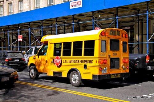 школьный автобус, нью-йорк