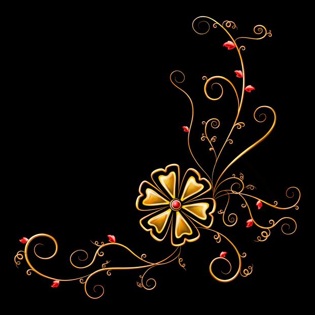 Анимационные картинки узоры на черном фоне