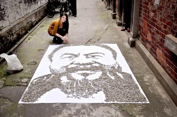 Портреты от Hong Yi. Рисунки не карандашами