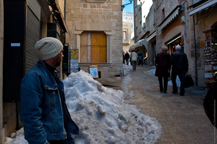 Как правило снег в Сан-Марино - это достаточно редкое явление