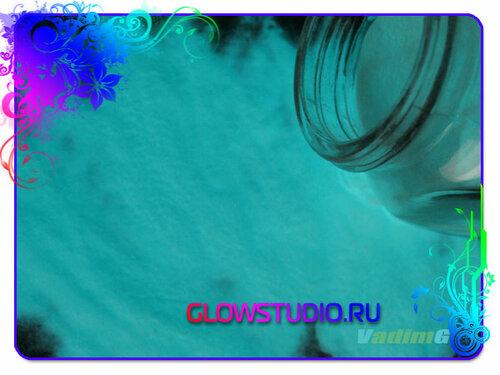 бирюзовый люминофор - светящийся пигмент