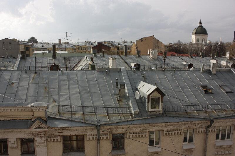 Вид с колокольни церкви Николы в Подкопаях. 22/04/2012