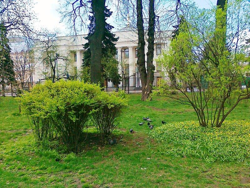 Мариинский парк в районе Верховной Рады