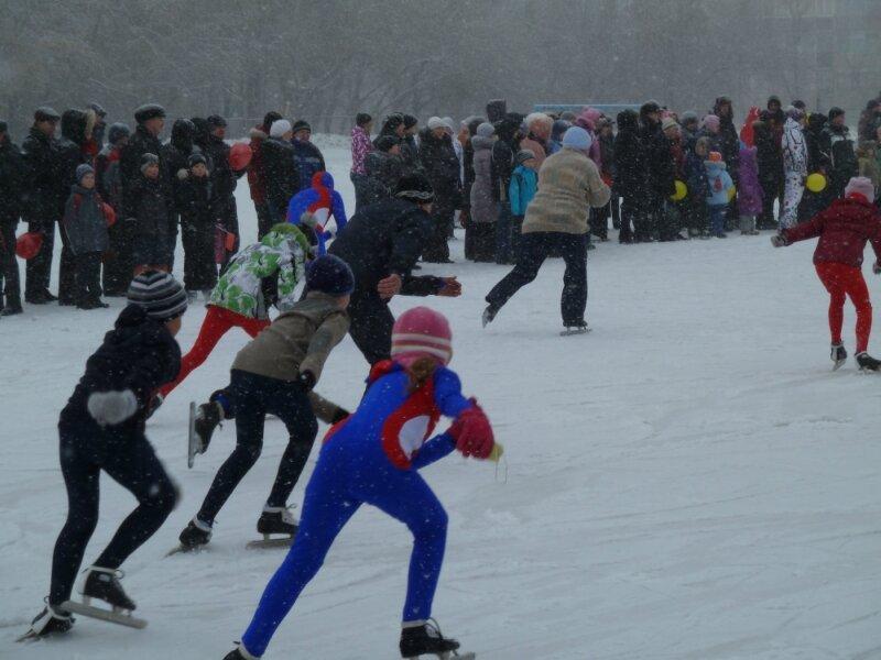 Молодые участники забега