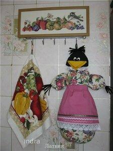 птица из лоскутов шитье