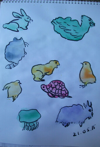 Рисунки из пятен