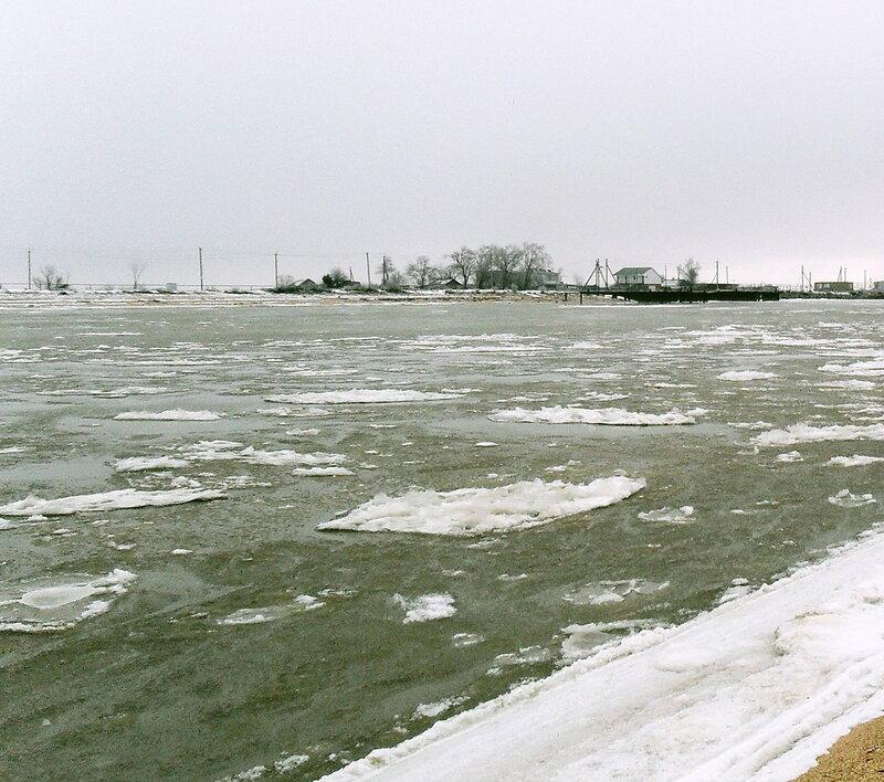 В январе, пешком по берегу Азовского моря