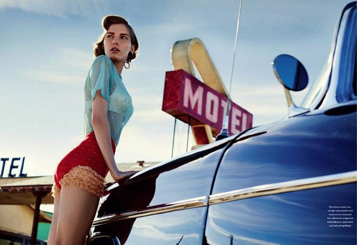 модель Марике Шиммель / Marique Schimmel, фотограф Benny Horne