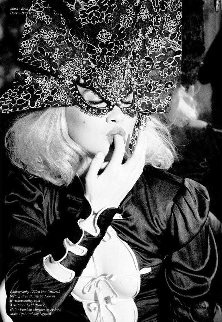 модель Анджелино Лорен Эвери / Angeleno Lauren Avery, фотограф Ellen von Unwerth