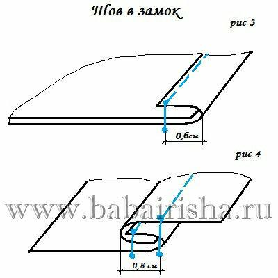 постельный шов пошаговая инструкция