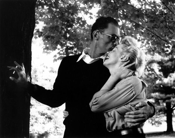 Marilyn Monroe and Arthur Miller on their wedding day