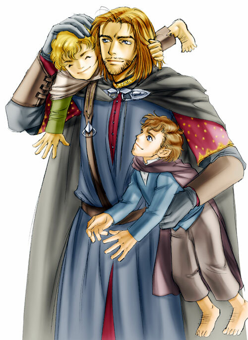 Boromir and Merry and Pippin - idolwild