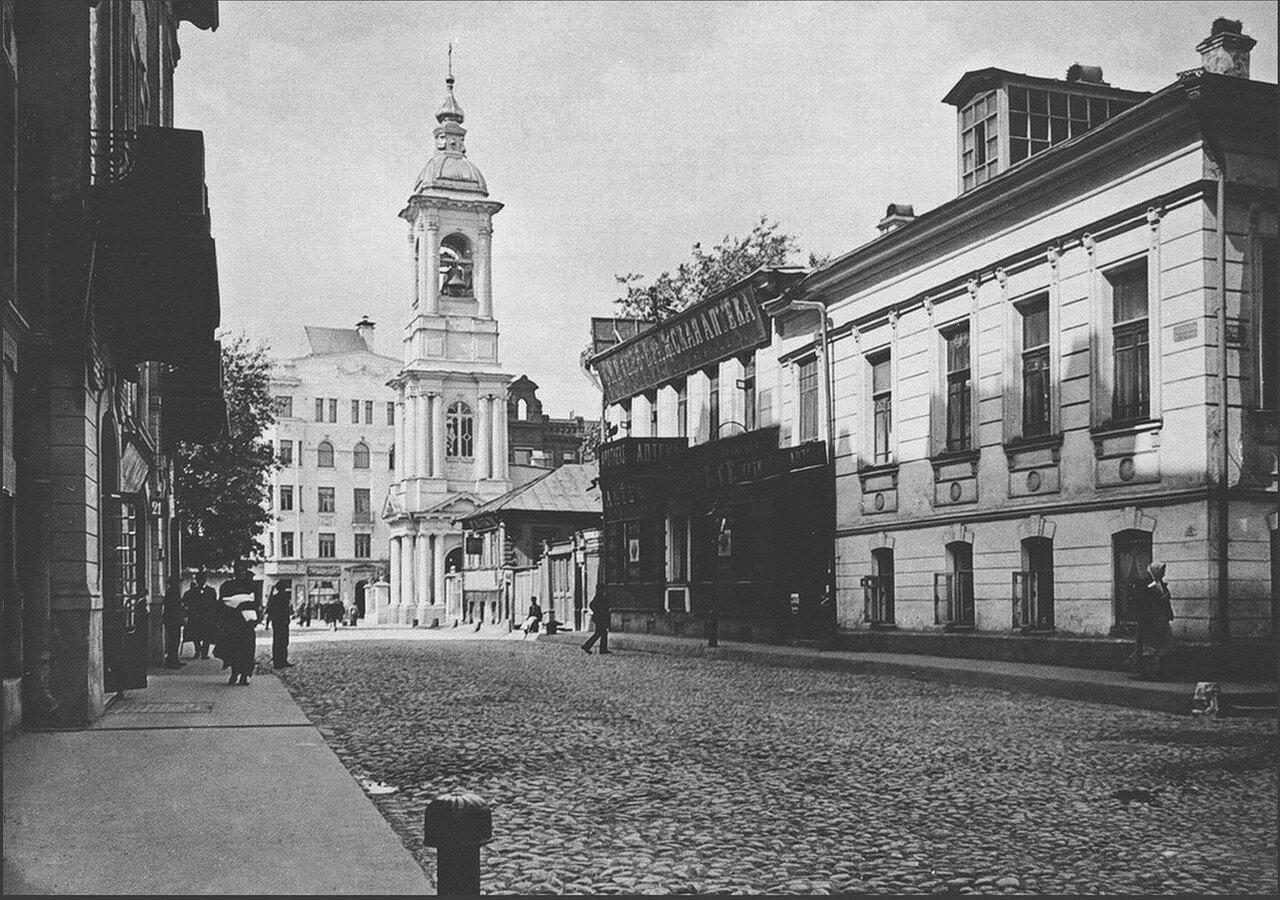 466. 1911. Никольский (Плотников) переулок с видом на Арбат