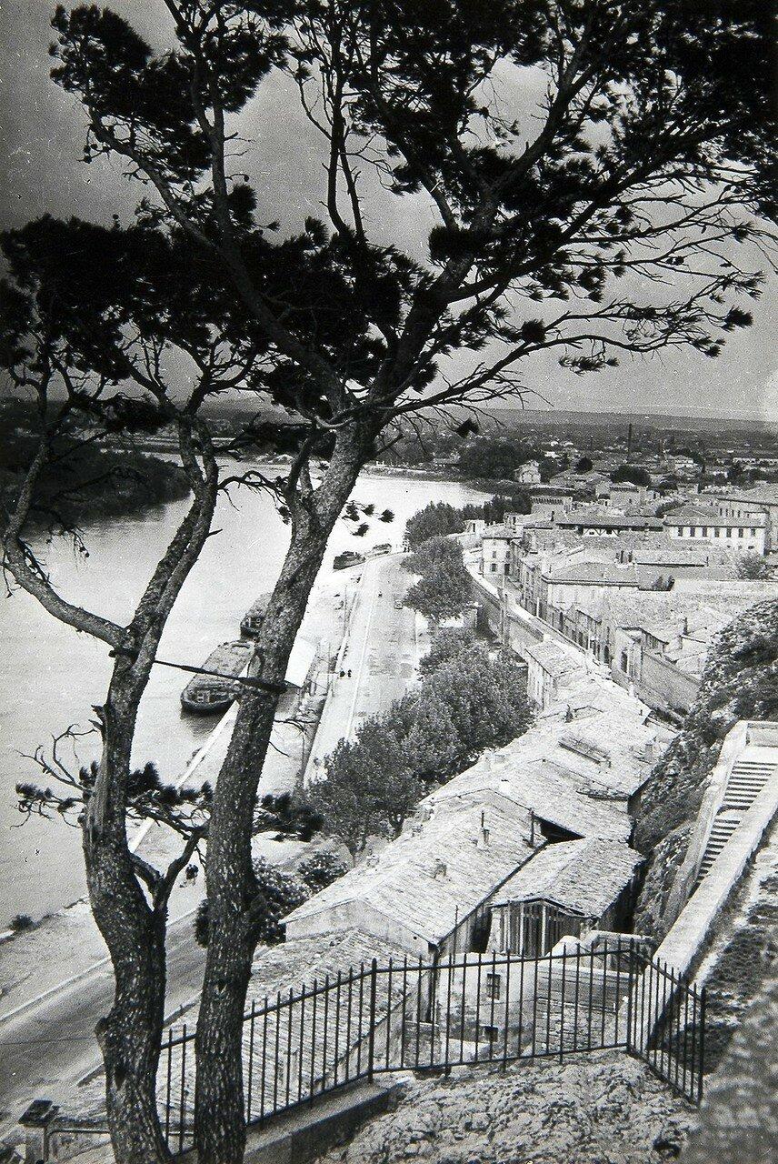 1950-е. Вид на реку Рона