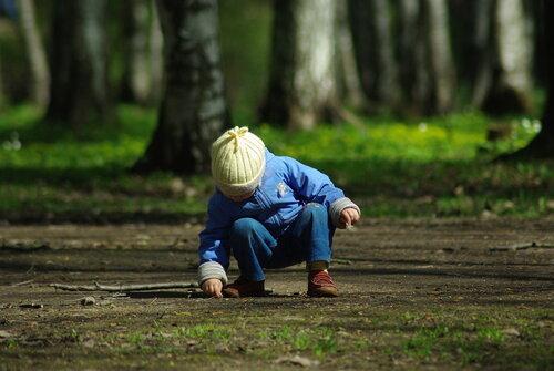 весна, удельный парк, дети