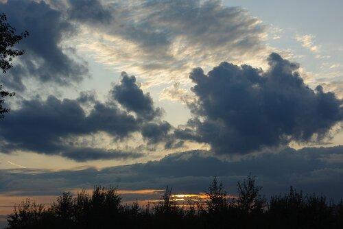 августовский закат в Питере