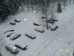 Весенний снегопад