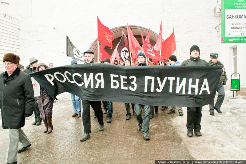 """Ярославская оппозиция настаивает на """"России без Путина""""."""