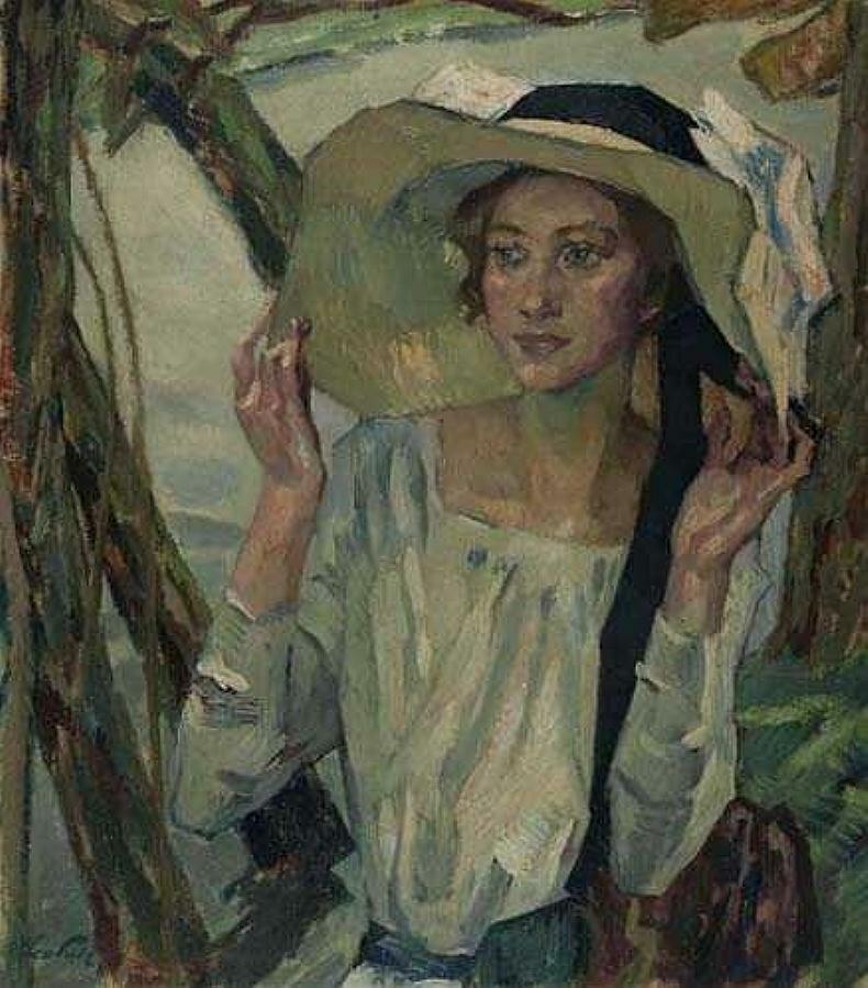 Дама во флорентийской шляпе.
