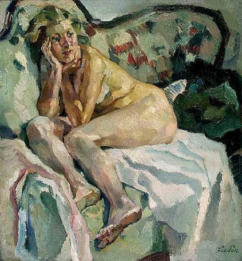 Лизл на софе, НЮ, Лео Путц (1869-1940)