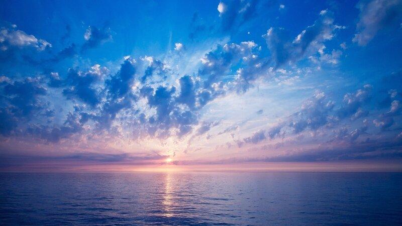 1024x768 горизонт, небо, облака, обои, солнце, цвет, море, свет hd обои на рабочий стол 25316