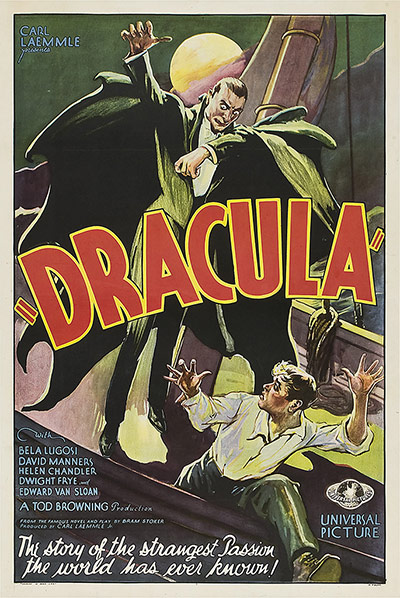 Top Selling Film Posters - Dracula, 1931