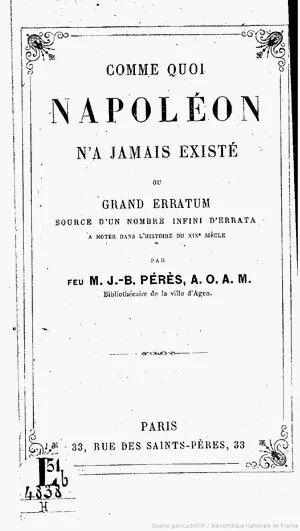 Брошюра про то, что Наполеона не было