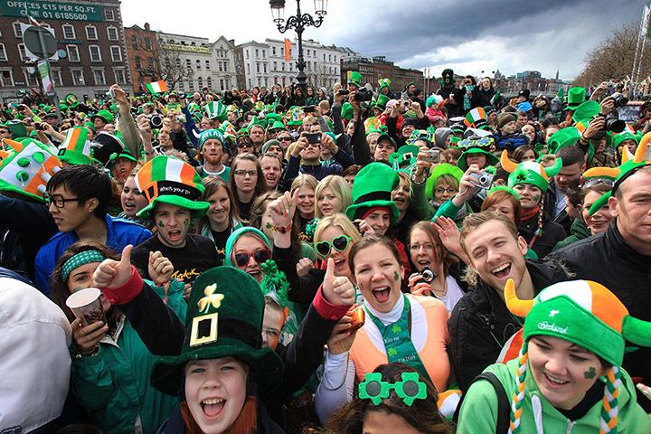 Parade goers in Dublin