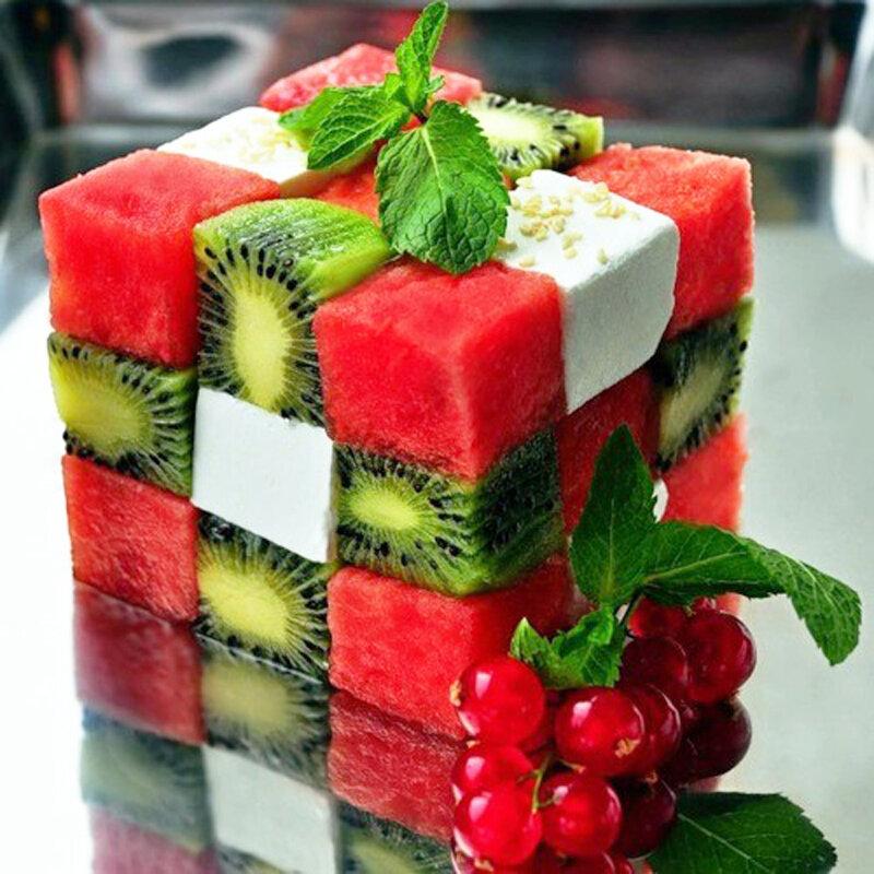 Фото креативных салатов